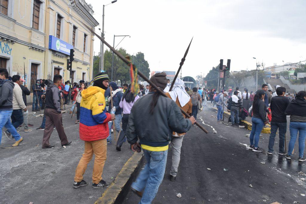 Golpe a golpe protesta Ecuador