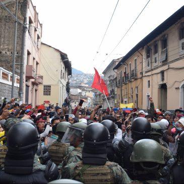 Ecuador, un gobierno que se debilita ante una lucha social que crece