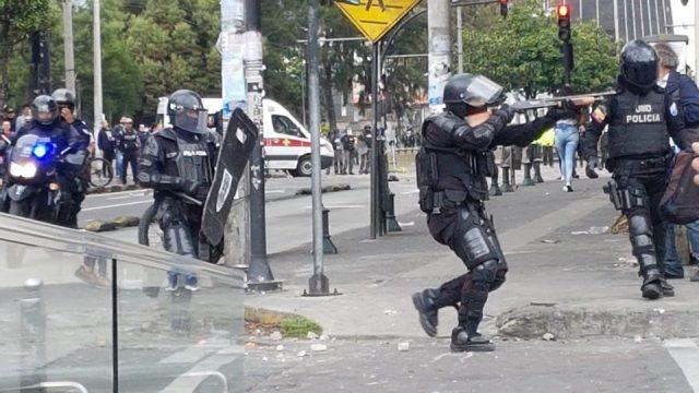 brutal represión
