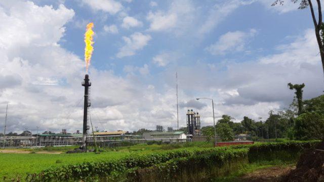 La quema de gas en los mecheros